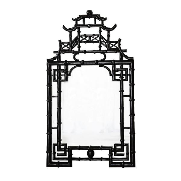 Black Pagoda Wall Mirror | Hamptons Home