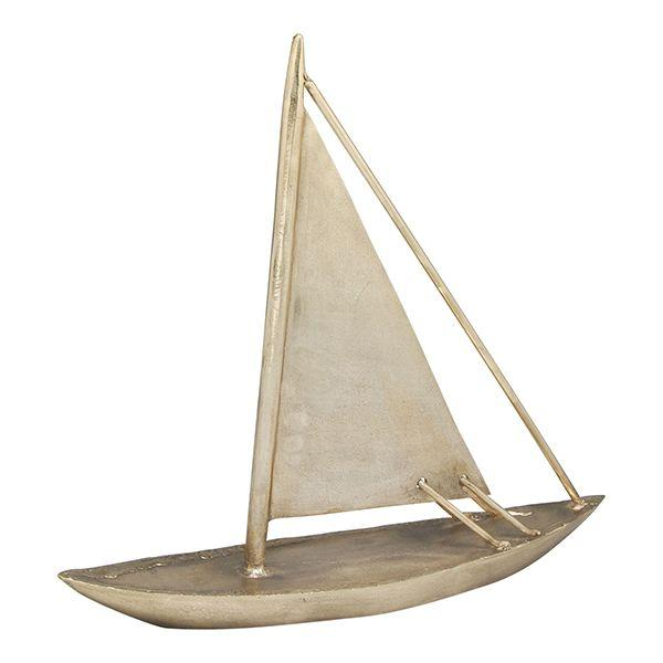 Home Decor - Brass Sailing Boat Decor 47 cm H | Hamptons Home