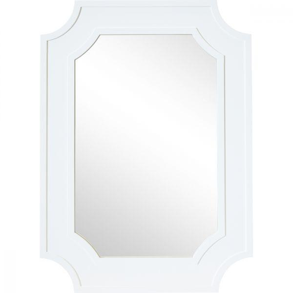Home Decor - Bungalow Wall Mirror  White 110 Cm H
