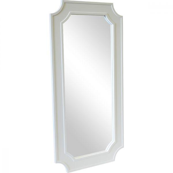 Home Decor - Classic Lines Form Bungalow Floor Mirror White 110 Cm H