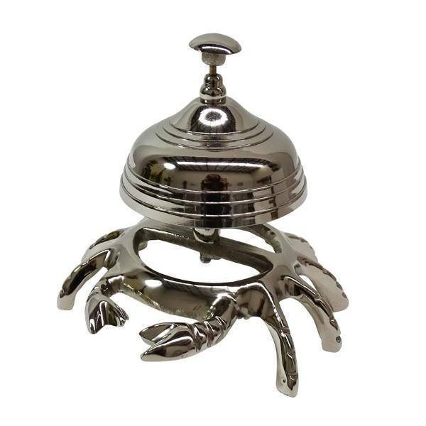 Crabbe Aluminum Table Bell 12 cm H | Hamptons Home