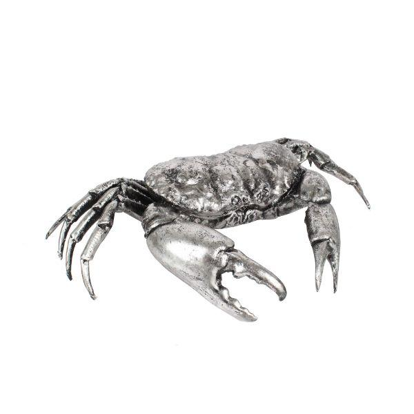 Home Decor - Resin Antique Silver Crab Ornament 46 Cm | Hamptons Home
