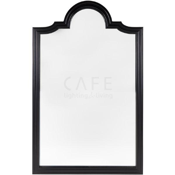 Home Decor - Satin Black Rosemont Floor Mirror 203 Cm H