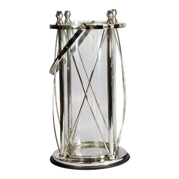 Home Decor - Venice Silver Hurricane – Large 51 Cm H | Hamptons Home