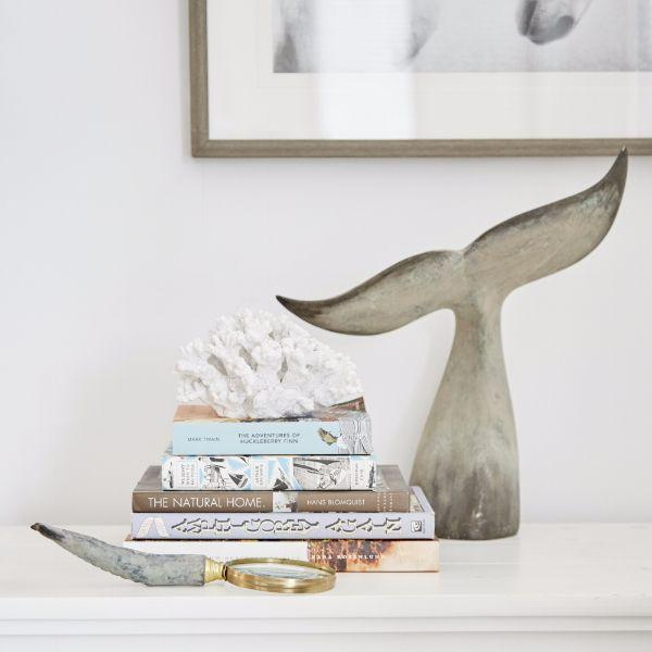 Home Decor - Whale Tail Ornament 41.5 Cm