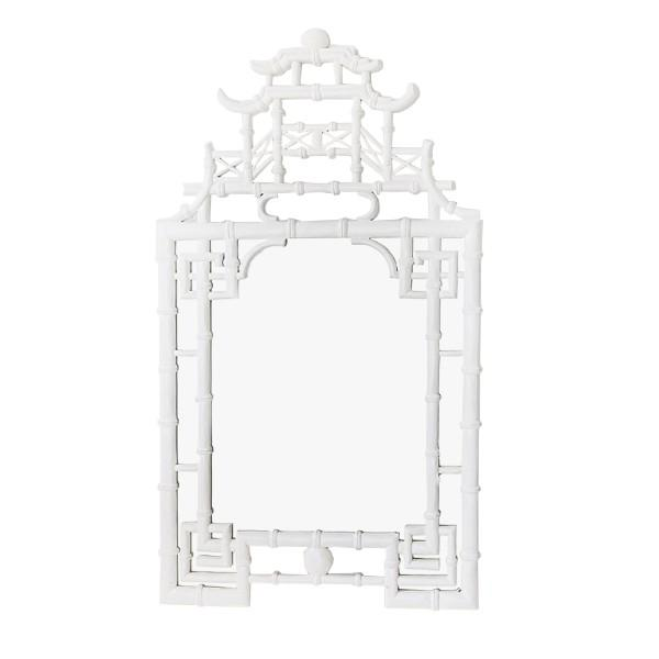 Home Decor - White Pagoda Mirror | Hamptons Home