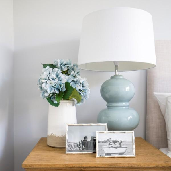 Alpine Pale Blue Bedside Table Lamp | Hamptons Home