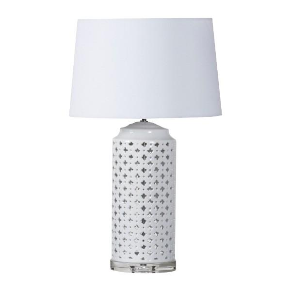 Cabo White Bedside Table Lamp - Hamptons Home {product_type] Hamptons style Furniture