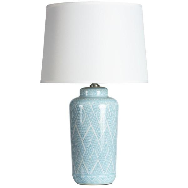 Catalina Pale Blue and White Bedside Table Lamp - Hamptons Home {product_type] Hamptons style Furniture