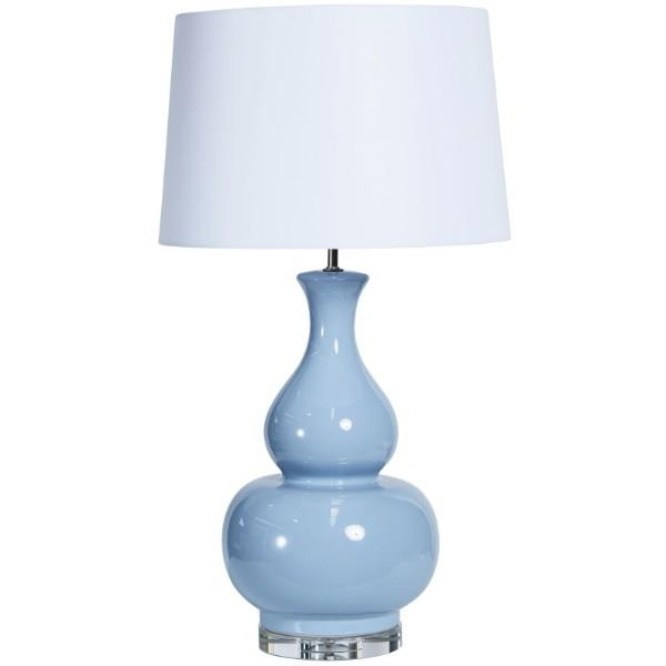 Cayman Pale Blue Bedside Table Lamp | Hamptons Home
