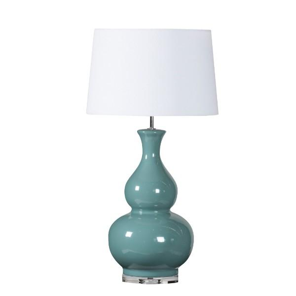 Clarence Teal Green Bedside Table Lamp - Hamptons Home {product_type] Hamptons style Furniture
