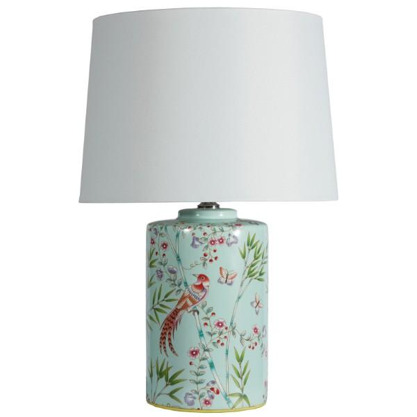 Claydon Aviary Motif Bedside Table Lamp | Hamptons Home
