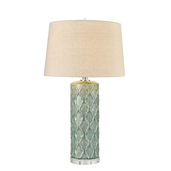 Cora Ceramic Table Lamp with Shade 78 cm H | Hamptons Home