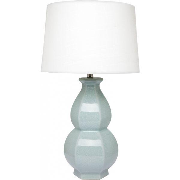 Lamps - Crushed Duck Egg Blue Erica Table Lamp 68 Cm H