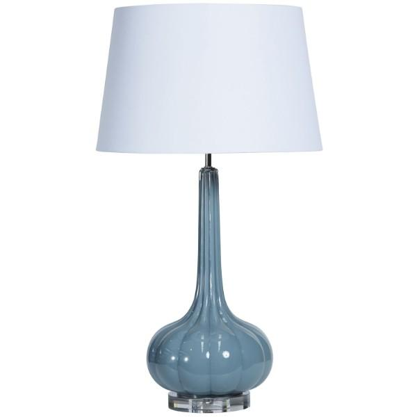 Dapper Blue Grey Bedside Table Lamp - Hamptons Home {product_type] Hamptons style Furniture