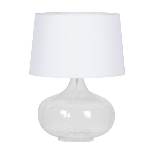 Emery Transparent Bedside Table Lamp - Hamptons Home {product_type] Hamptons style Furniture