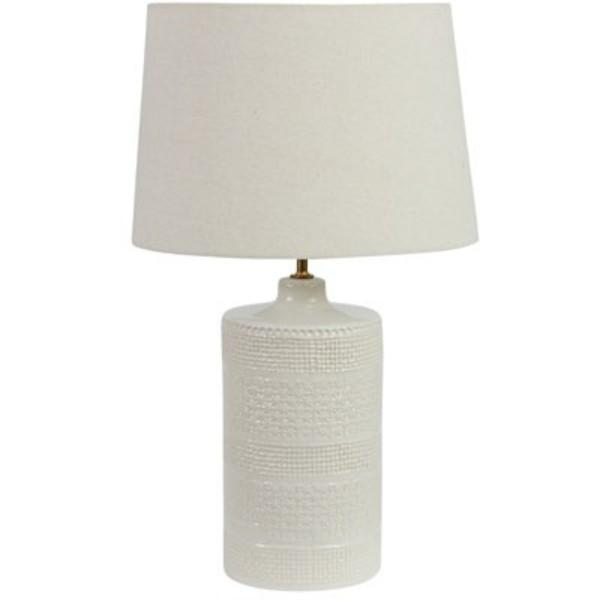 Endora Natural and Cream Bedside Table Lamp - Hamptons Home {product_type] Hamptons style Furniture