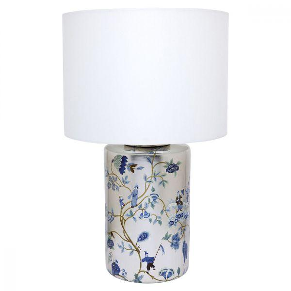 Lamps - Gold And White Chinois Table Lamp 65 Cm H