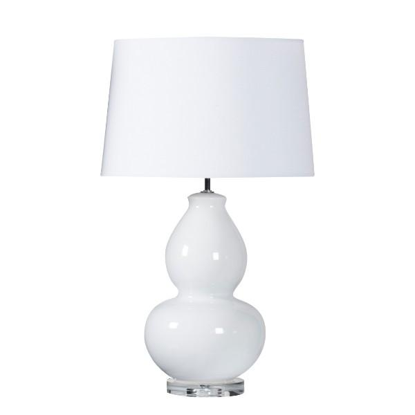 Kennedy White Bedside Table Lamp - Hamptons Home {product_type] Hamptons style Furniture