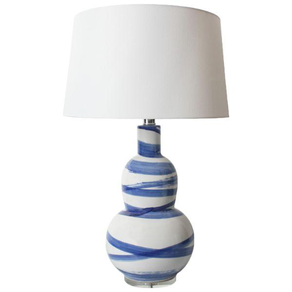 Lamps - Laguna Navy Bedside Table Lamp 64 Cm H | Hamptons Home