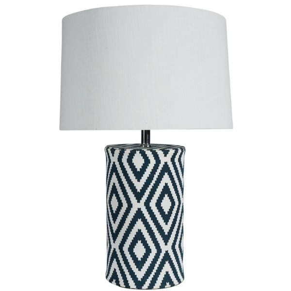 Lazuli Navy and White Bedside Table Lamp - Hamptons Home {product_type] Hamptons style Furniture