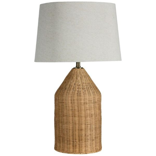 Palermo Light Natural Bedside Table Lamp | Hamptons Home