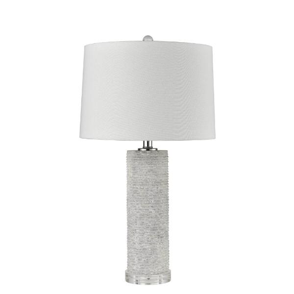 Lamps - Raw Marble Table Lamp With Shade 67 Cm H | Hamptons Home