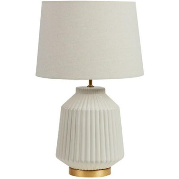 Sabrina White Silver Bedside Table Lamp - Hamptons Home {product_type] Hamptons style Furniture