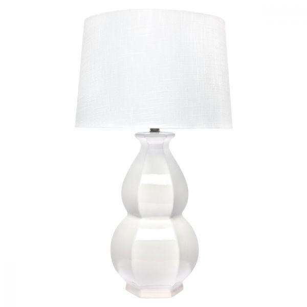 Lamps - Traditional White Erica Table Lamp White 71 Cm H