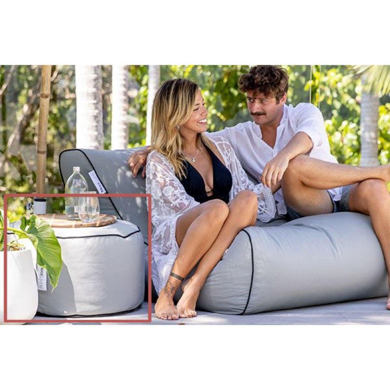 Sag Harbor Outdoor Bean Bag Ottoman | Hamptons Home