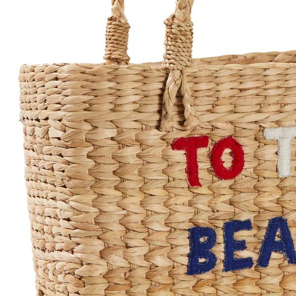 Outdoor Bags - Summertime Beach Basket Natural 35 Cm H | Hamptons Home