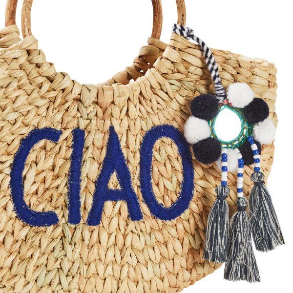Outdoor Bags - Summertime Ciao Basket Natural 25 Cm H | Hamptons Home