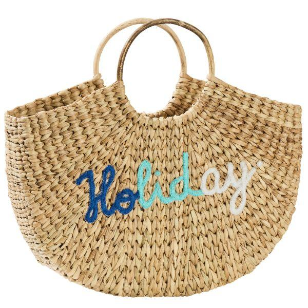 Outdoor Bags - Summertime Holiday Basket Natural 33 Cm H | Hamptons Home
