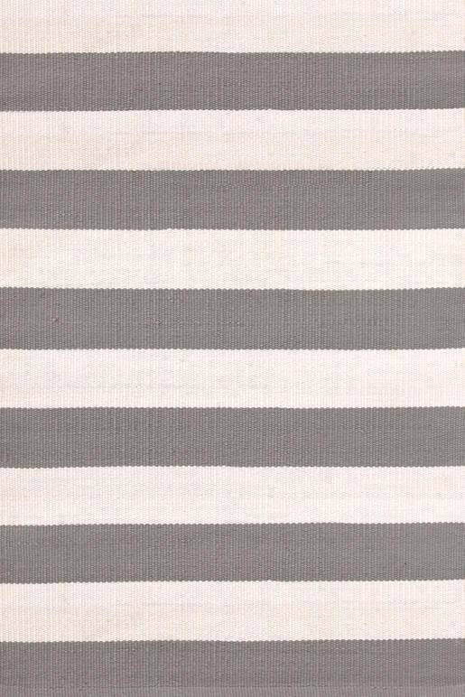 Dash & Albert Catamaran Stripe Fieldstone & Ivory Indoor Outdoor Rug | Hamptons Home