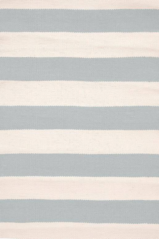 Dash & Albert Catamaran Stripe Light Blue & Ivory Indoor Outdoor Rug - Hamptons Home {product_type] Hamptons style Furniture
