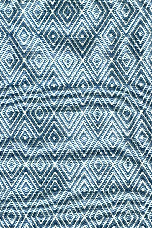 Dash & Albert Diamond Denim & Ivory Indoor Outdoor Rug | Hamptons Home