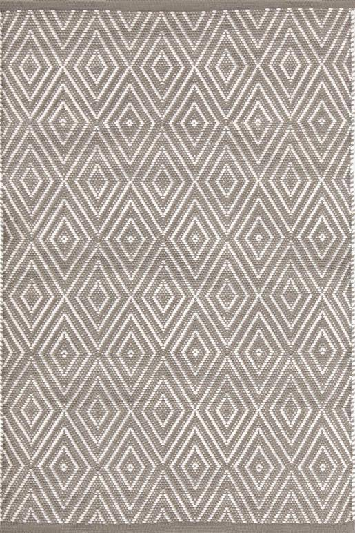 Dash & Albert Diamond Fieldstone & Ivory Indoor Outdoor Rug | Hamptons Home