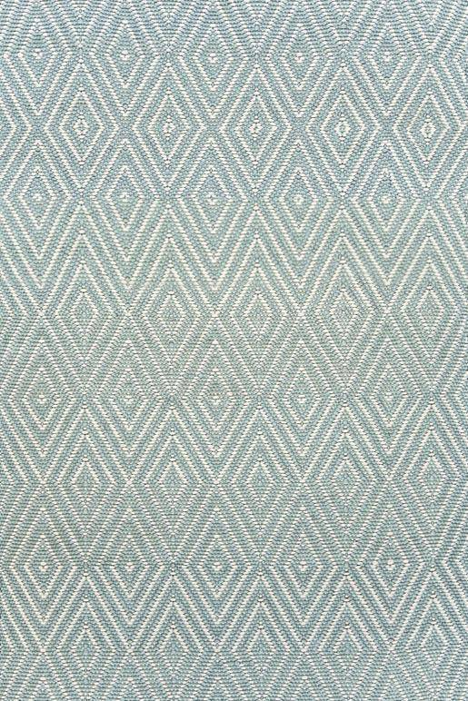 Dash & Albert Diamond Light Blue & Ivory Indoor Outdoor Rug | Hamptons Home