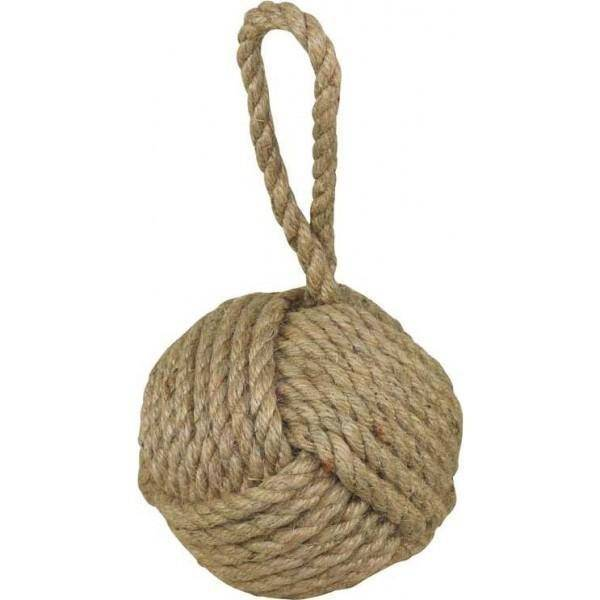 Natural Coir Brown Rope Doorstop - Hamptons Home {product_type] Hamptons style Furniture