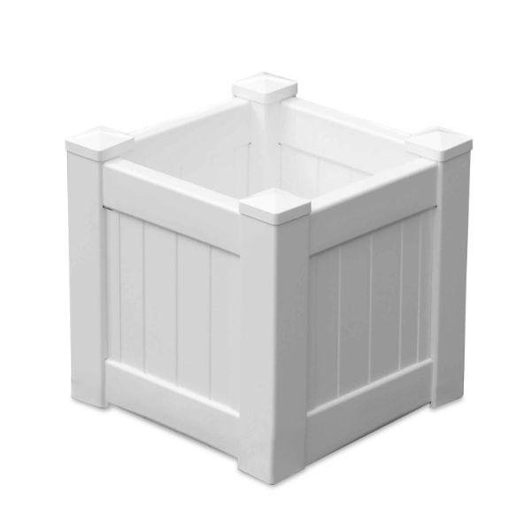 Planter Boxes - MONTAUK PVC Planter Box Square 45 Cm By 45 Cm