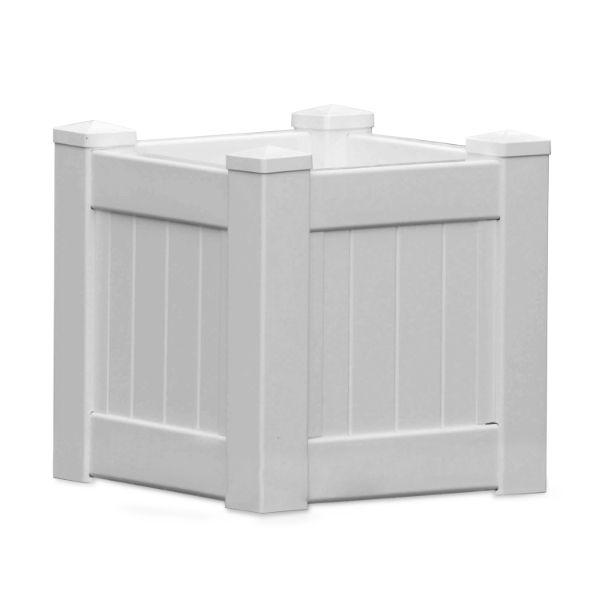 MONTAUK PVC Planter Box Square 45 cm by 45 cm | Hamptons Home