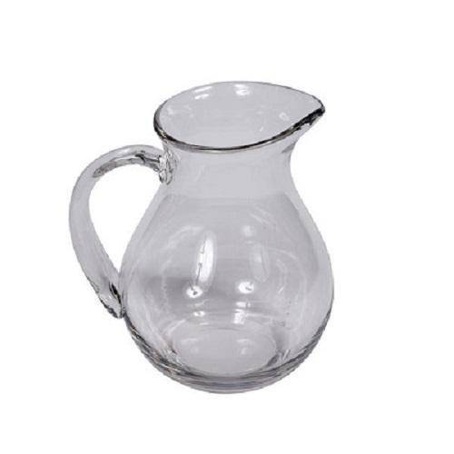 Heavy Clear Glass Jug 23 cm H - Hamptons Home {product_type] Hamptons style Furniture