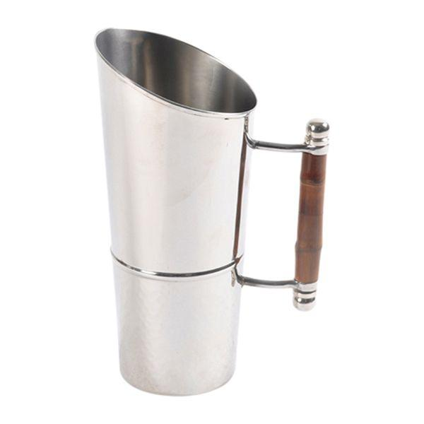 Serving Ware - Nickel & Bamboo Water Jug 25 Cm L