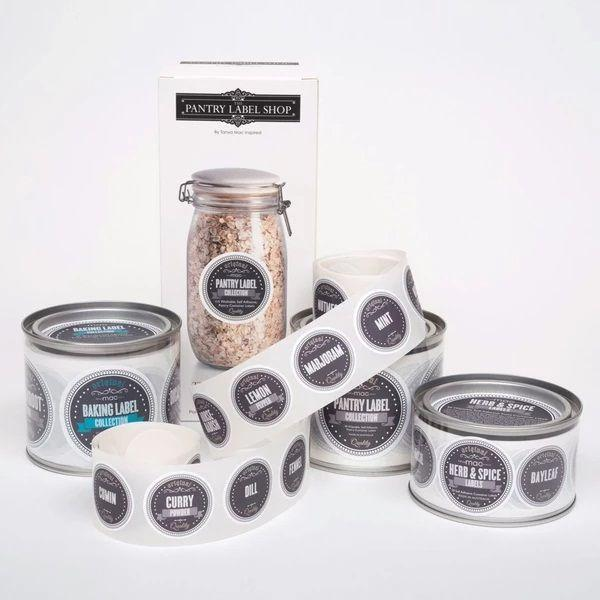 Serving Ware - Retro Black And Grey Pantry Label Gift Box Set