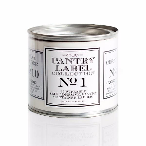 Serving Ware - Vintage Black And White Pantry Label Gift Set