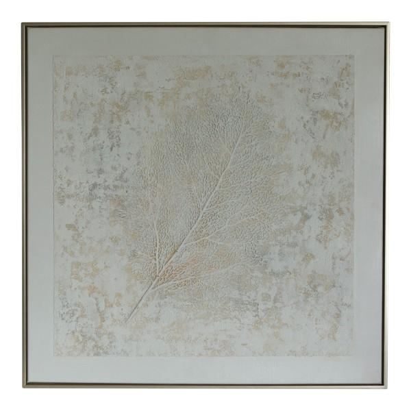 White Coral Canvas Framed Wall Art 80 cm | Hamptons Home