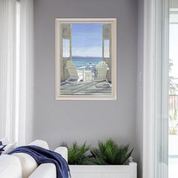 Wall Art - Hamptons Adirondack Chairs Seaview Framed Wall Art | Hamptons Home
