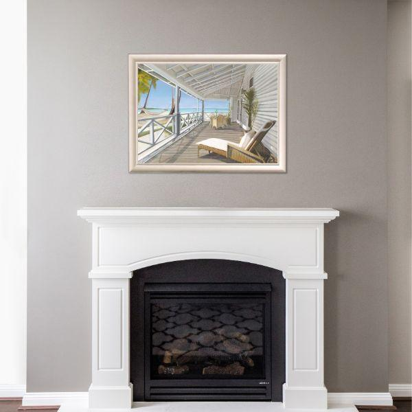 Wall Art - Hamptons Beach Vista Framed Wall Art 102 By 77 Cm | Hamptons Home