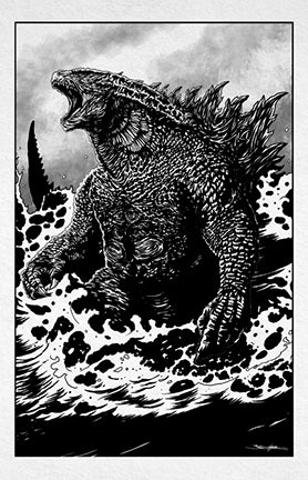 godzilla : the king of the monsters (ink variant)