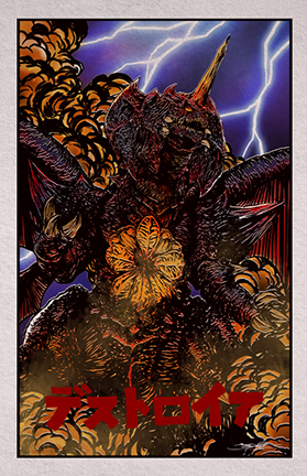 Destroyah : Attacks (Color Variant)